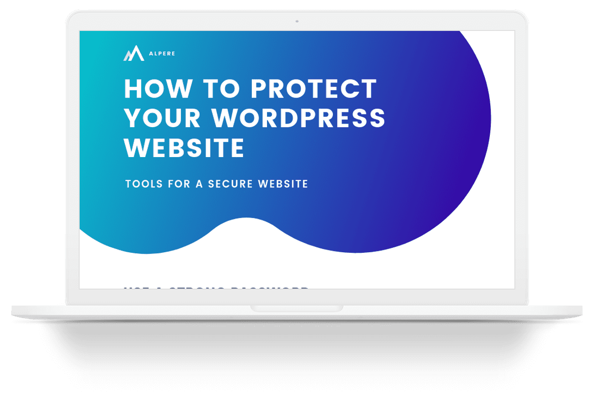 How to Protect Your WordPress Website Infographic Mockup on Laptop